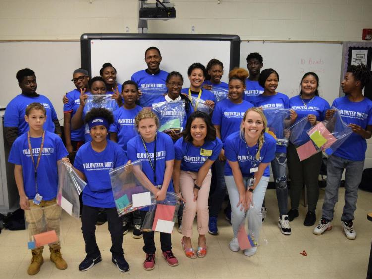 OnTrack Greenville Middle School Gives Back